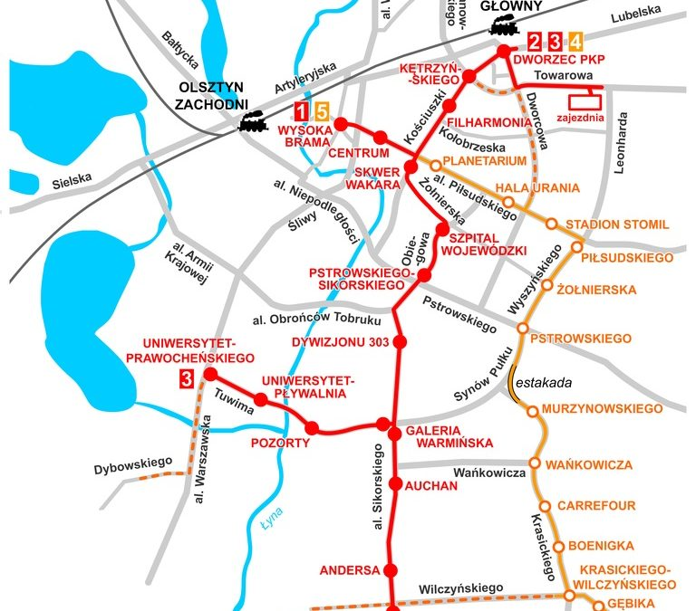 Nowa sieć tramwajowa – przebieg linii