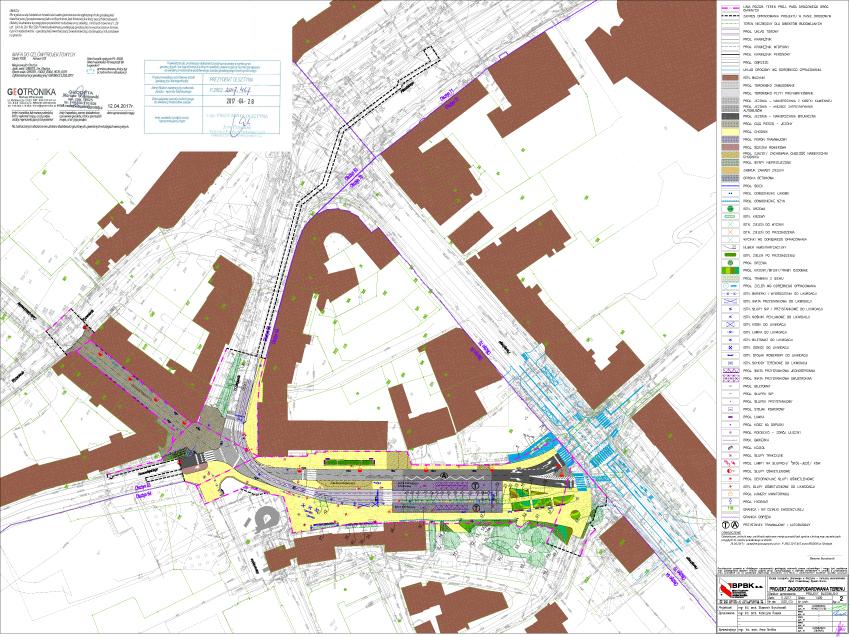 Projekt zagospodarowania pasa drogowego budowy linii tramwajowych po optymalizacji