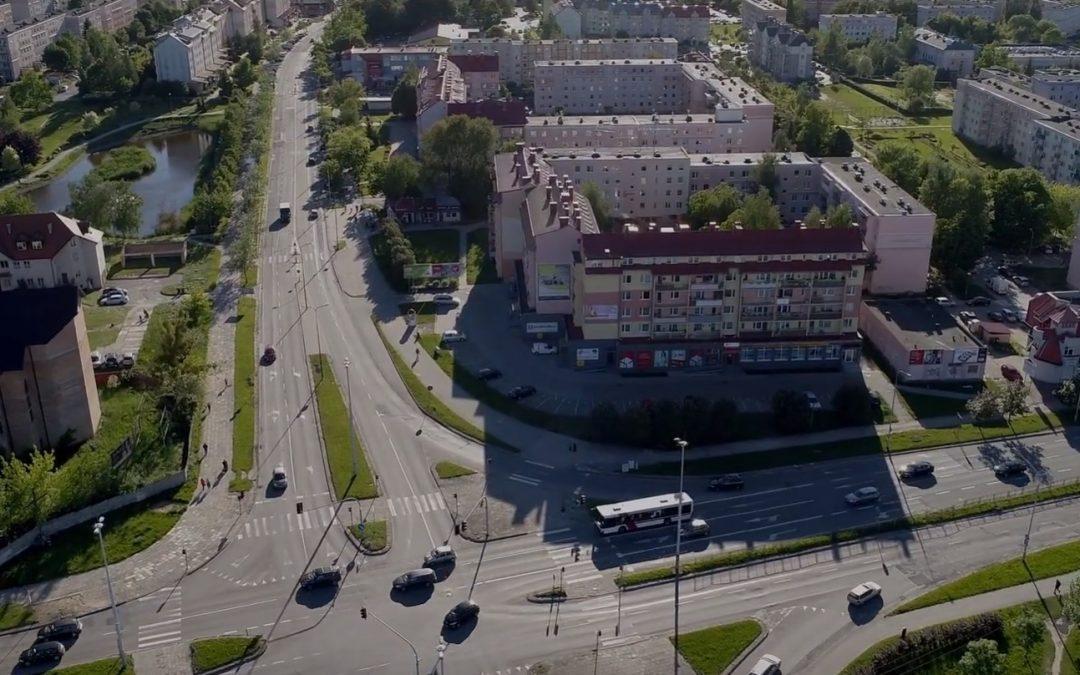 Ulice Olsztyna przed budową nowych linii tramwajowych
