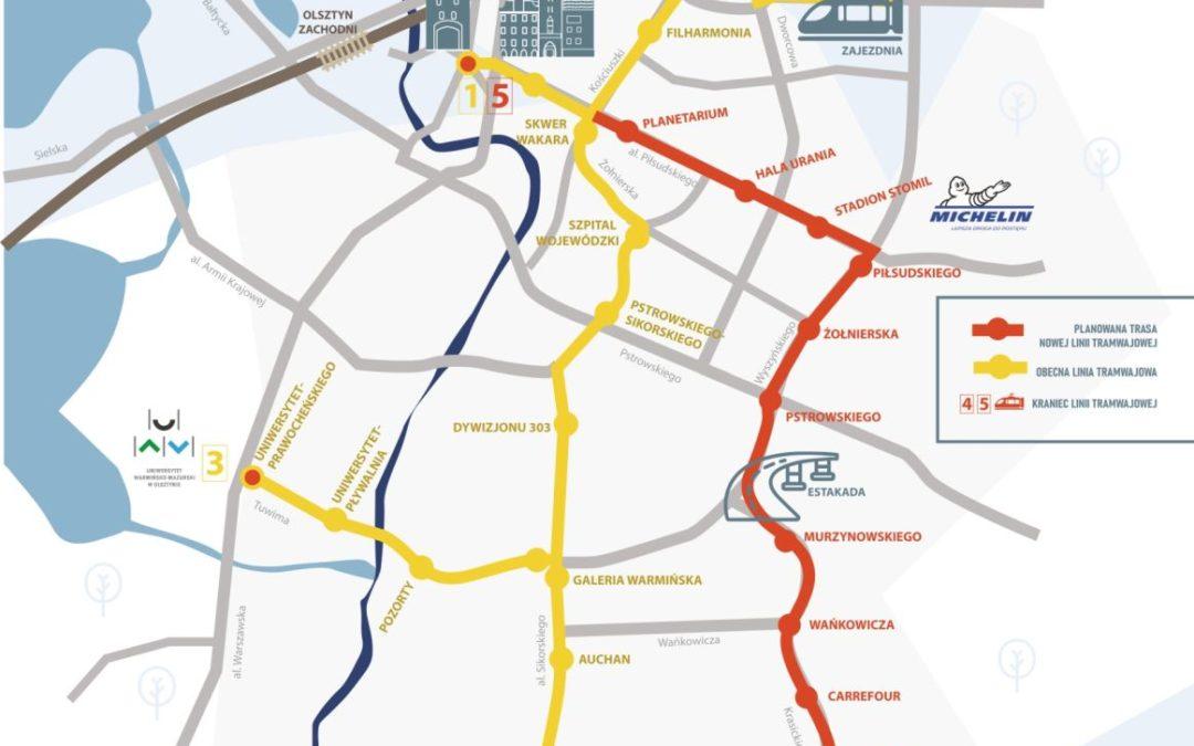 Trasa nowej linii tramwajowej