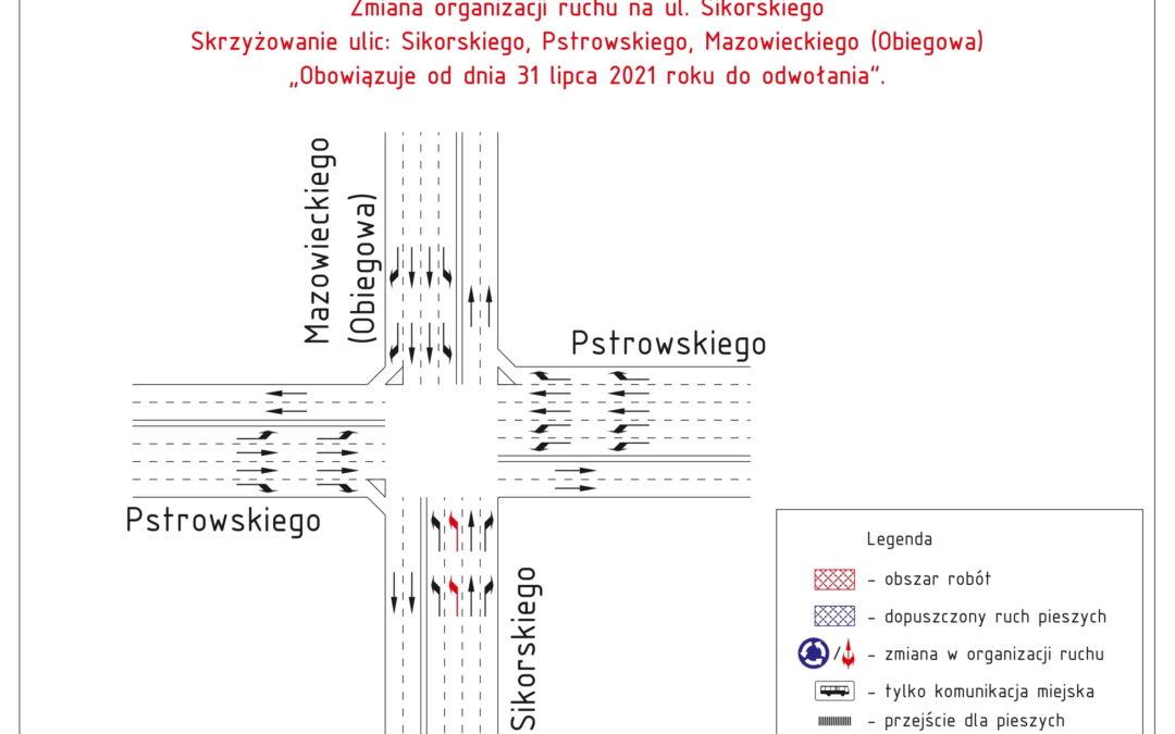 Roboty drogowe – zamknięcie odcinkowe Al. Piłsudskiego od 31 lipca 2021 r.
