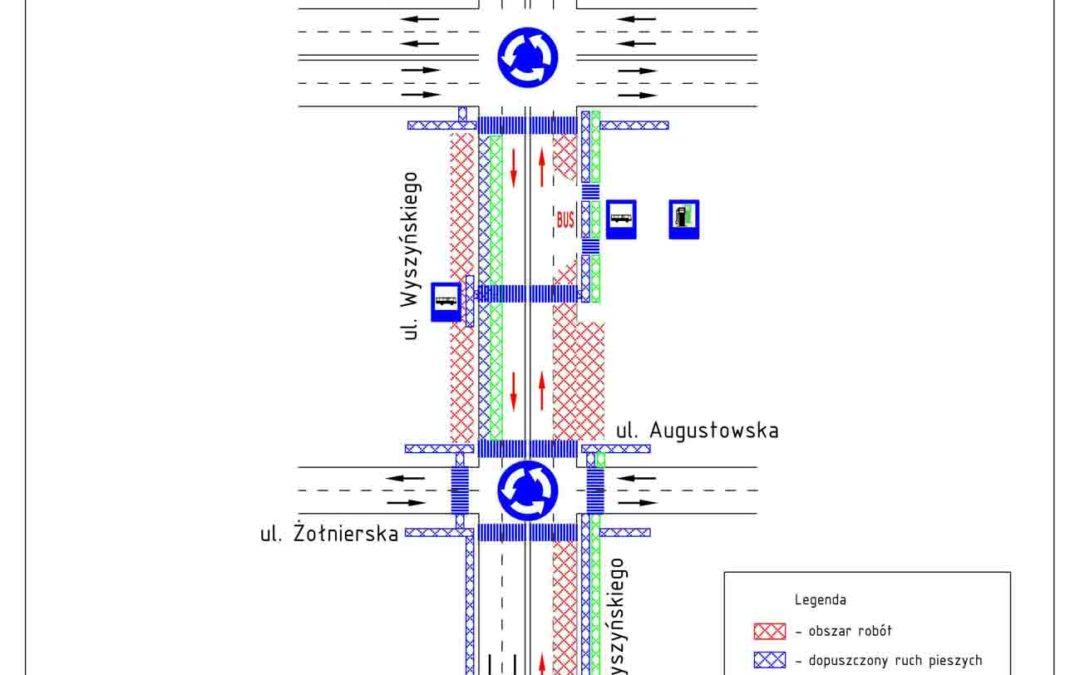 Roboty drogowe – ograniczenia ruchu na ul. Wyszyńskiego od 22 sierpnia 2021 r.