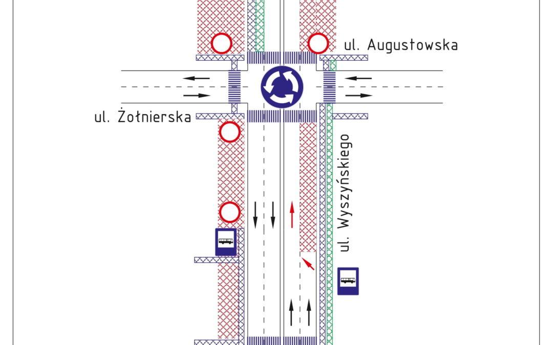 Zmiana zakresu robót drogowych na ul. Wyszyńskiego od 18 września 2021 r.